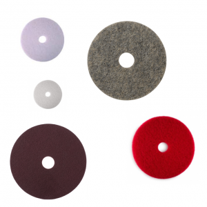 Discs and pads for floor